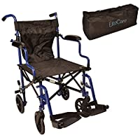 Super lightweight folding transit travel wheelchair in a bag ECTR05