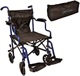 Super lightweight folding transit travel wheelchair in a bag ECTR05
