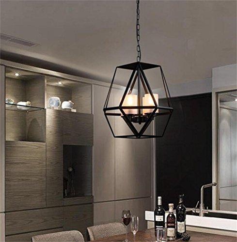 Alta qualità-- Candele ingresso corridoio foyer lampadario paese epoca americano battuto lampadario in ferro salotto industriale Caffè Ristorante --Efficiency:A+++