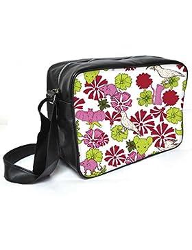 Snoogg Vögel und Ratten Leder Unisex Messenger Bag für College Schule täglichen Gebrauch Tasche Material PU