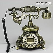 MMM- Teléfono antiguo europeo Retro teléfono fijo fijo con luz de fondo manos libres para mostrar el teléfono antiguo ( Color : Button normal version )