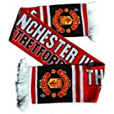 """Official MANCHESTER UNITED FC large """"STRETFORD END"""" scarf ULTRAS"""