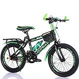 Kinderfahrräder Guo Shop 6-7-9-10-15 Jahre Alt Kinderwagen 18/20/22 Zoll Jungen und Mädchen Schüler Singlespeed Mountainbike (Farbe : Grün, Größe : 22