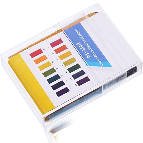 Bandes de Test de PH, Test pour Niveau de PH Alcalin de l'Acide de Salive d'Urine ou la Qualité de l'Eau, Gamme Complète de 1-14 (200 Pièces)