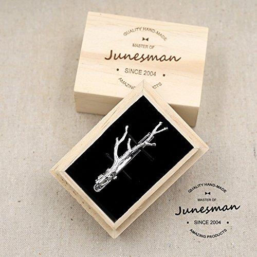 Der high - end - Juni - mann Hand gravur krawattennadel business casual Verheiratet 9056 Silber - AST - kasten