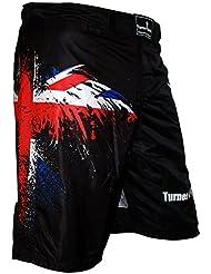 TurnerMAX Short de MMA pour sports de combat Arts martiaux Kick boxing Grappling UFC Boxe Thaï