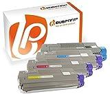 Bubprint 4 Toner kompatibel für OKI 43865708 43872307 43872306 43872305 für C5650 C5650DN C5650N C 5650 Series C5750 C5750DN C5750N C 5750 Series