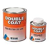 De IJssel Double Coat 2K Klarlack Bootslack - 1 kg Set - Lack Transparent Zum Streichen (Pinsel) Oder Rollen (Walze)