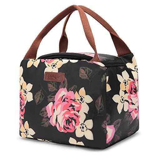 UtoteBag Lunchtasche Lunch Bag Leichte Isolierte Kühltasche Mittagessen Tasche für Damen Mädchen Kinder, Wasserdichte Thermotasche Isoliertasche für Arbeit/Schule/Picknick/Ausflug