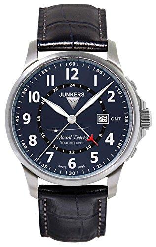 Junkers Herren-Armbanduhr Analog Quarz Leder 68443