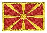 Flaggen Aufnäher Mazedonien Fahne Patch + gratis