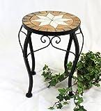 DanDiBo Blumenhocker Merano Mosaik 12014 Blumenständer 20-37 cm Hocker Rund Beistelltisch