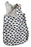 Babyschlafsack 100% Bio-Baumwolle GOTS Ganzjahres Schlafsack Ärmellos 2.5 Tog 0-6 Monate 60cm oder 6-18 Monate 80cm (80cm / 6-18 Monate, Elefant)