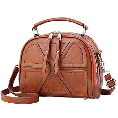 Yiiquan Sac à Main en PU Cuir Simple Design de Style Vintage Sacs a Bandoulière Beau Bags