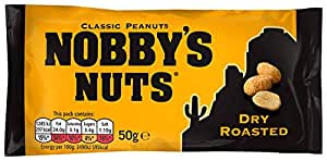 Nobby's Nuts Dry Roasted Peanuts 50 g (Pack of 24)