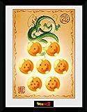 1art1 100321 Dragonball Z - Dragon Balls Gerahmtes Poster Für Fans und Sammler 40 x 30 cm