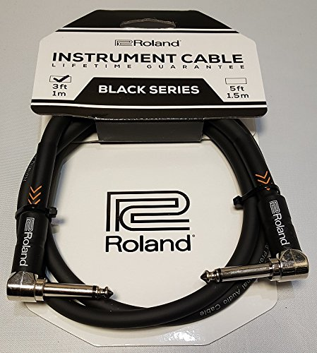 roland-210070099-3ft-1-m-instrument-cable-angled-to-angled-1-4-inch-jack