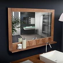 Amazon.fr : miroir salle de bain en teck