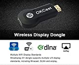 Miracast-Airplay-WLAN Stick (2.4G)-Foxcesd Wireless HDMI Display Adapter Receiver - 1080p Streaming - Media Player -Share Videos Images Docs Live Camera Musics from All iPhone, iPad, Samsung Andorid Smart Devices to TV, Monitor or Projector, For iOS 6.0 & Andorid 5.0 Above