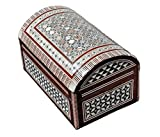 Egyptian Mosaic Jewelry Trinket Box Mother of Pearl Bx11 by CraftsOfEgypt