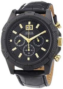 Guess Herren-Armbanduhr XL Mens Sport Chronograph Quarz Leder W0176G1