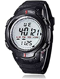 Rise N Shin Sports Digital Black Dial Watch With Stopwatch, Alarm For Men And Boys