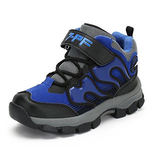 katliu Jungen Mädchen Trekking Wanderschuhe Kinder Rutschfest Schnee Stiefel Warm Gefüttert Winter Schuhe Outdoor Wasserdicht Bergstiefel,Blau 37 EU/38 CN