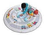 Winthome Tappetino per giochi semplici che si trasforma in sacco di raccolta - ideale per una veloce raccolta di Lego, Duplo e giocattolo vari (Dimensioni - 150cm) auto