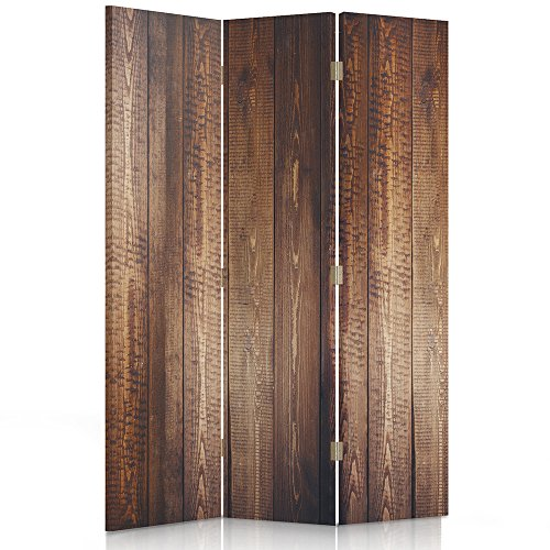 Feeby Frames. Raumteiler, Gedruckten auf Canvas, Leinwand Wandschirme, dekorative Trennwand, Paravent einseitig, 3 teilig (110x150 cm), BRETT, HOLZ, BRONZE