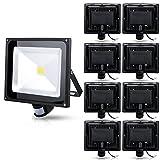 9X 50W Blanc Chaud Projecteur AC 85-265V étanche Projecteur LED induction Sense lampe, AC 85-265V