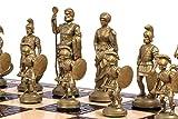 Exclusivo SPARTA 49,5 cm/19,5 en ajedrez de madera decorativo conjunto con piezas pesados!