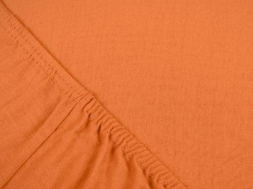 npluseins klassisches Jersey Spannbetttuch - erhältlich in 34 modernen Farben und 6 verschiedenen Größen - 100% Baumwolle, 90-100 x 200 cm, terrakotta - 4
