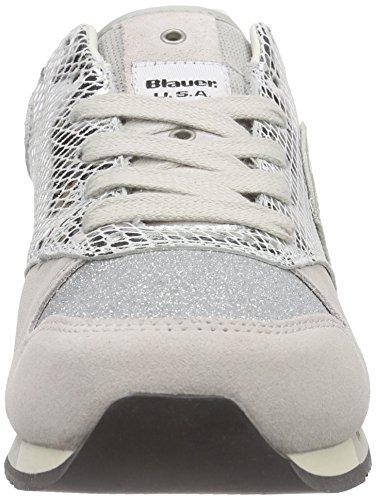 Blu Usa Womens Worunori Sneakers Argento (argento)