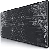 CSL - XXL Speed Gaming Mauspad Titanwolf 900 x 400mm | XXL Mousepad | Tischunterlage/Large Size | verbessert Präzision und Geschwindigkeit | Gummiunterseite für stabilen Halt auf glatten Oberflächen
