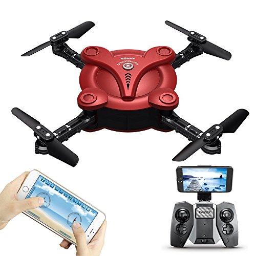 REDPAWZ FQ777 FQ17W WiFi FPV Mini Drone Foldable Pocket Drone with 0.3MP Camera Altitude Hold Mode RC Quacopter RTF
