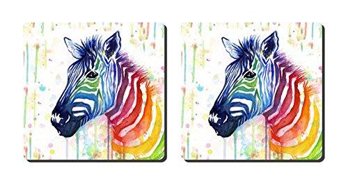 luxcase Design Rainbow Zebra Creative Küchengeschirr Kork Square Pad Matte Tischset Tisch oder in der Küche Heat Mat -