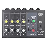 Ammoon Faible Bruit Ultra Compact Metal Audio Mixer 4 Canaux Câble Audio Adaptateur de Courant 8 canales