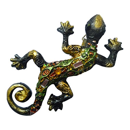 Gecko Mosaic Effect Wall Plaque Sparkling Lizard - Hanging Home Garden Decoration by PK Green