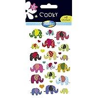 Maildor Cooky Sticker Sheet, Wild Animals, Elephants