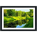 Sifty Collection Beautiful Nature Scenery Painting Exclusive Framed Wall Art Paintings Framed Size (12 Inch X 18 Inch, (Wood 30 Cm X 2 Cm X 48 Cm, Special Effect Textured)