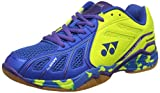 Yonex Super Ace Light Badminton Shoes, UK 7 (Light Blue/Lime Green)