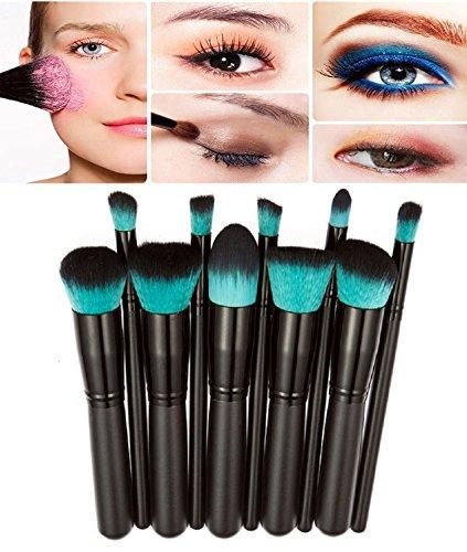 Demarkt Kit Pinceau Maquillage Brosse Professionnel 10PCS Eyebrow Shadow Makeup Blush Fond Teint AntiCerne (C1)