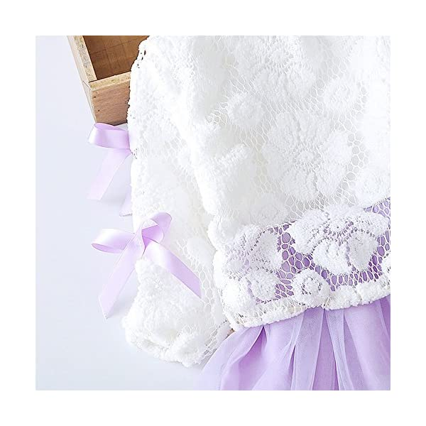 Tefamore Vestidos Bebe Niña, Recién Bebé Niñas Tutú Princesa Vestido Pentagram Bautizo Bebé Niñas Vestidos de Manga… 4
