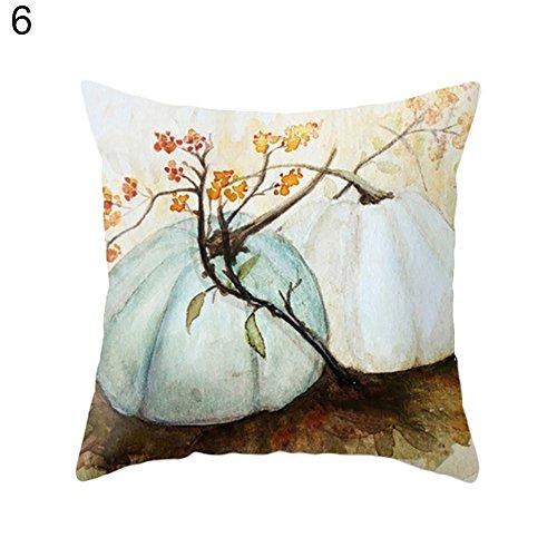 Bangle009saldi acquerello zucca di halloween cuscino pillow case thanksgiving day decor 6#