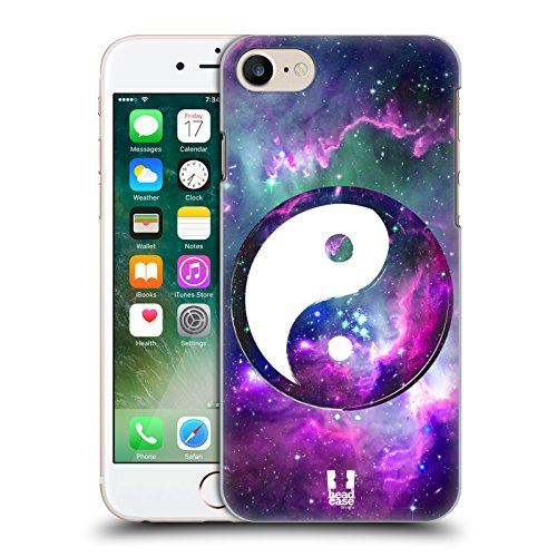 Head Case Designs Grunge Texture Yin Und Yang Kollektion Ruckseite Hülle für Apple iPhone 5 / 5s / SE Purpur Nebel