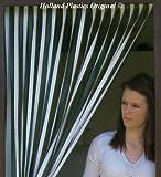 Wohnwagen / Wohnmobil Türvorhang, resistent gegen Bugs und Fliegen. Ideal für Wohnwagen und Wohnmobile - GRÜN UND WEIß