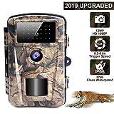 LongOu Caméra de Chasse Camera de Chasse Faune 1080P avec Camera Chasse Vision Nocturne Camera Infrarouge IP66 Imperméable de Mouvement de Vision Nocturne | 12MP | 65ft