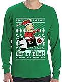 Nordkoreanische Weihnachten Männer - Let It Blow Langarm T-Shirt X-Large Grün