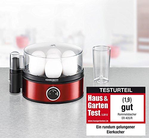 Rommelsbacher Egg Boiler, Red