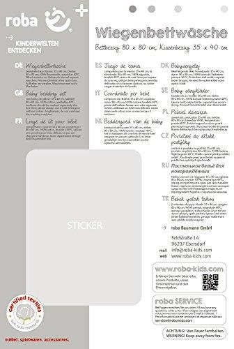 80x80 cm Happy Patch mint NEU Roba Wiegenbettwäsche 2-teilig 35x40